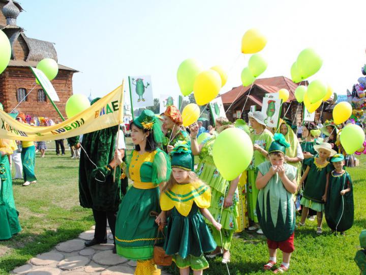 Репортаж со дня Огурца 2018 города  Суздаля